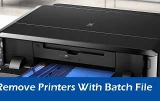 5 Steps To Remove Printers With Batch File