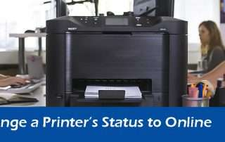 How to Change a Printer's Status to Online