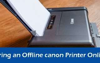 How to Bring an Offline canon Printer Online