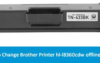 How to Change Brother Printer hl-l8360cdw offline status