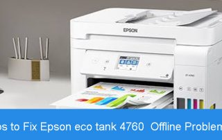 Steps to Fix Epson eco tank 4760 Offline Problem