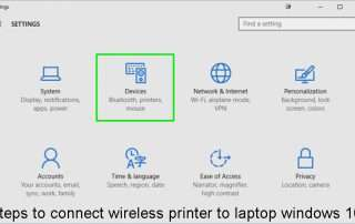 Steps to connect wireless printer to laptop windows 10