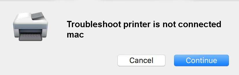 Troubleshoot printer is not connected