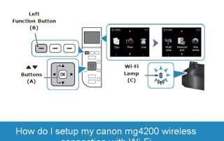How do I setup my canon mg4200 wireless connection with Wi-Fi