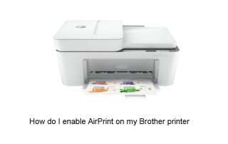 How do I enable AirPrint on my Brother printer