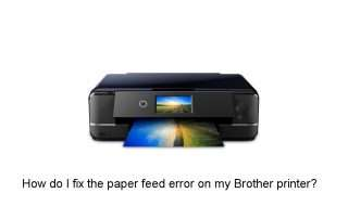 How do I fix the paper feed error on my Brother printer